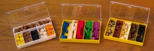 Agricola - Spielmaterial in Boxen