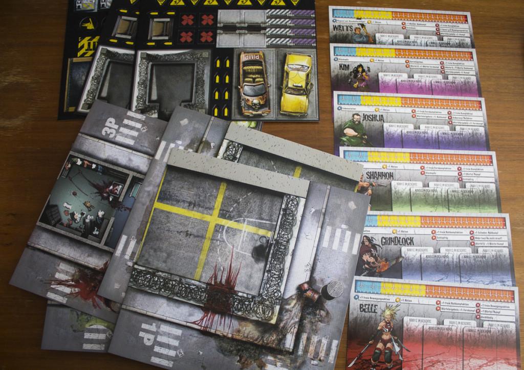 Zombicide Season 2 - Prison Outbreak - Inhalt Karten