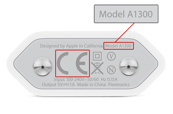 Umzutauschendes Applenetzteil A1300