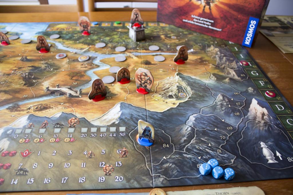 Die Legenden von Andor - Spielaufbau 2