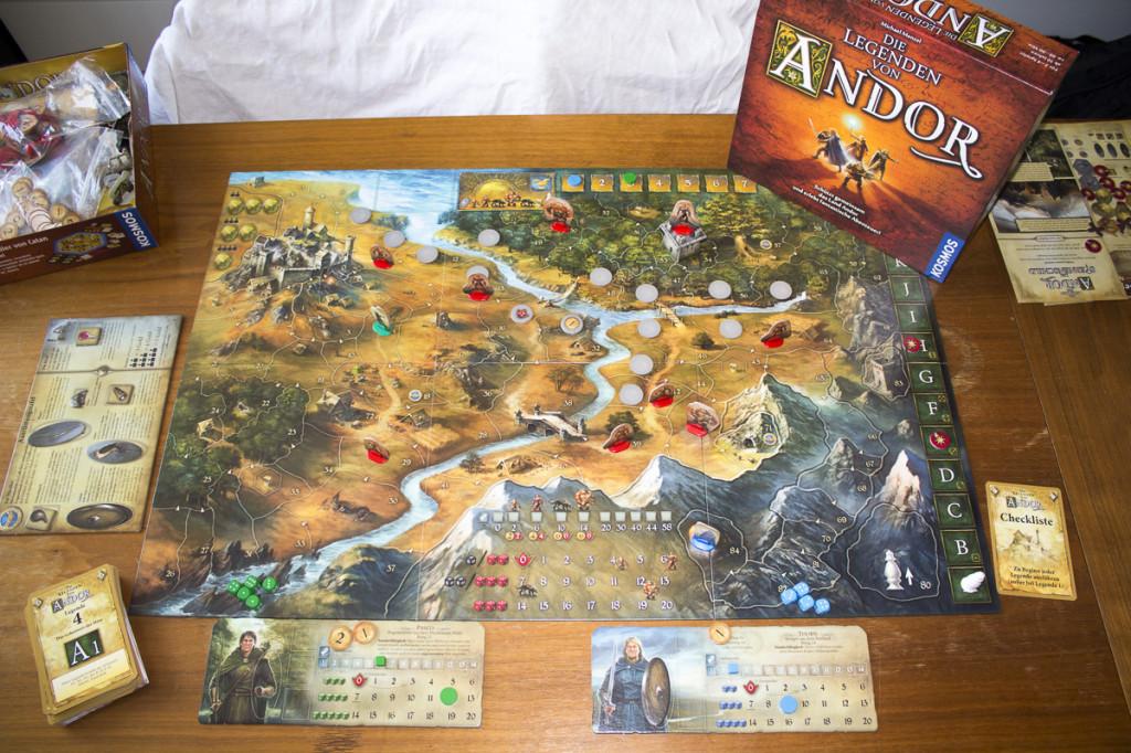 Die Legenden von Andor - Spielaufbau