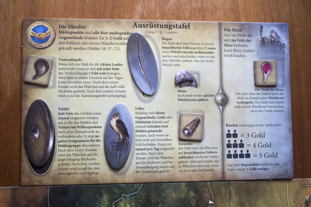Die Legenden von Andor - Ausrüstung