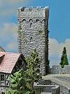 Bergfried  (mit gemauerter Spitze)