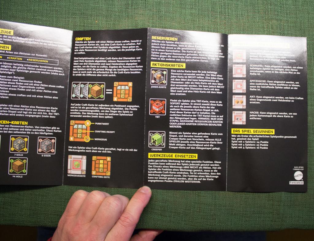 Minecraft Kartenspiel – Spielanleitung