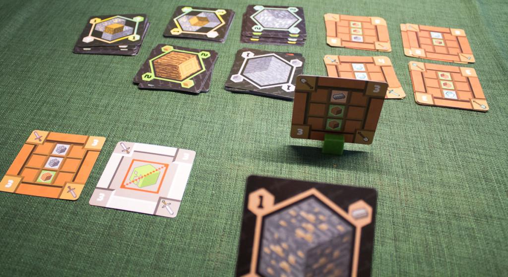 Minecraft Kartenspiel – Spielszene