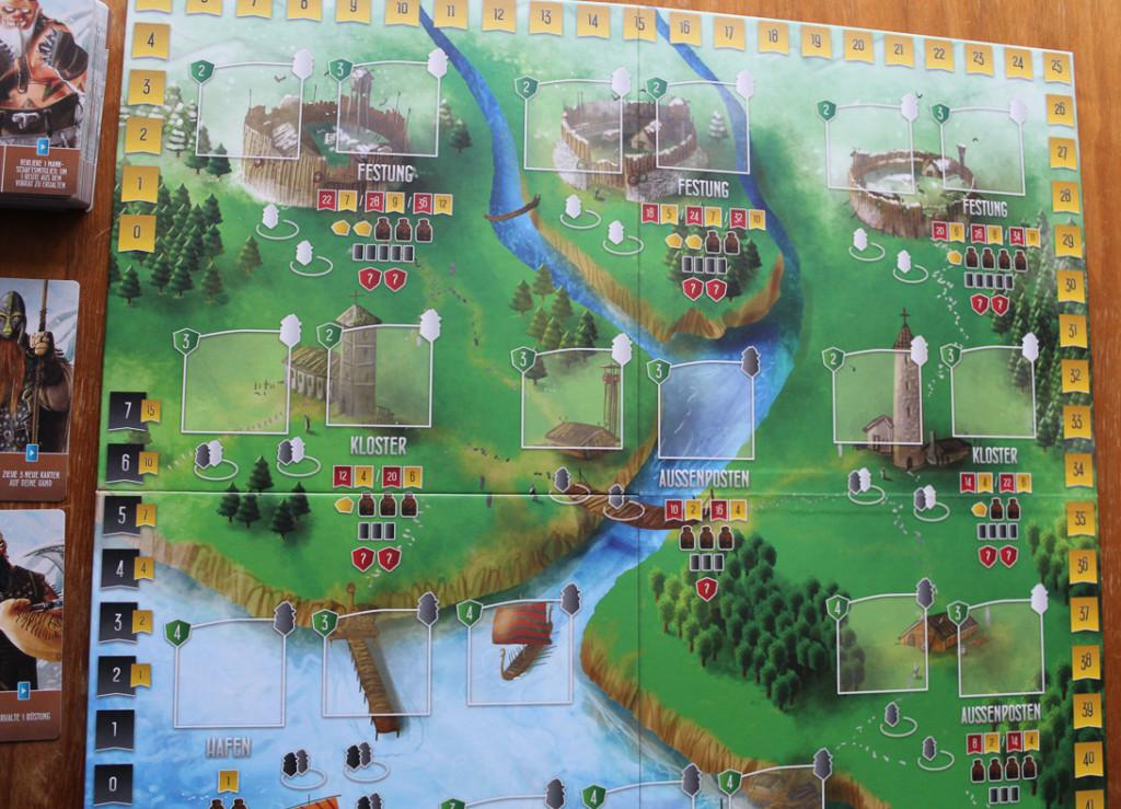 Räuber der Nordsee - Spielplan