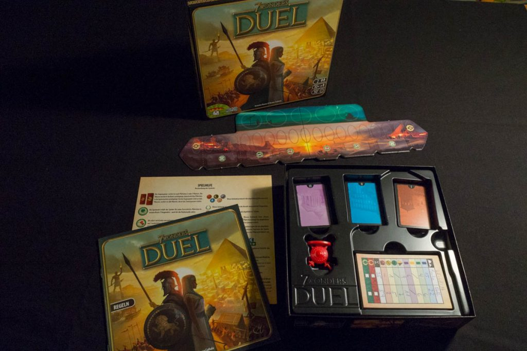 7 Wonders Duel - Spielmaterial