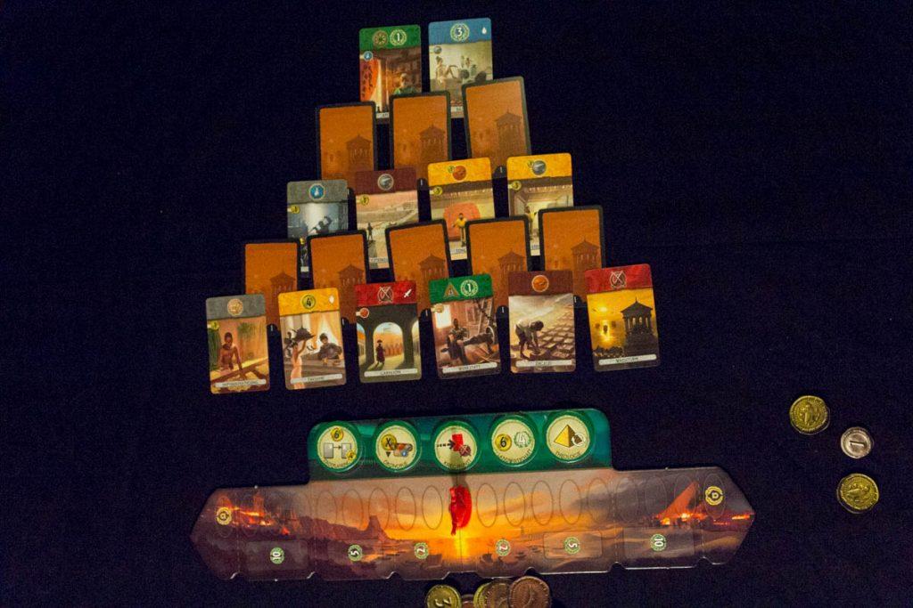 7 Wonders Duel - Kartenauslage 1. Zeitalter