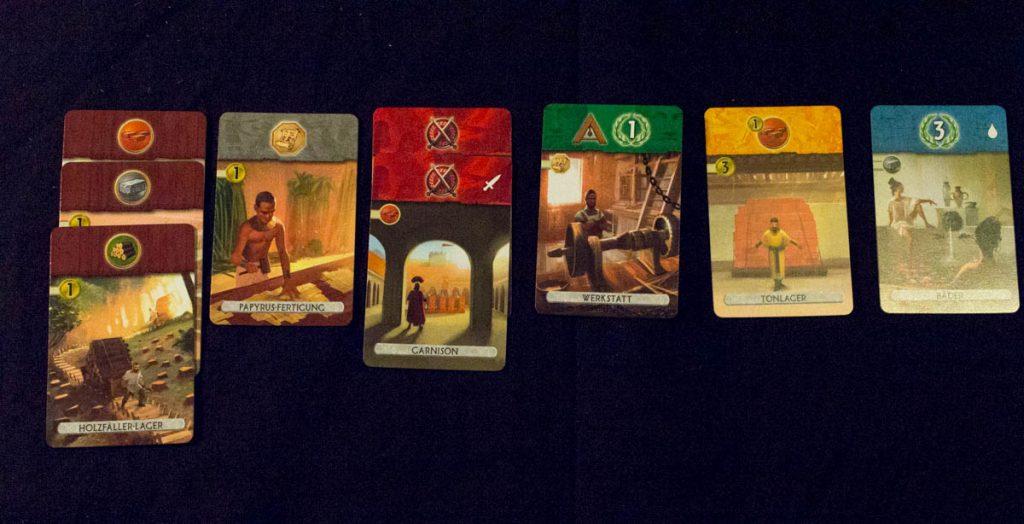 7 Wonders Duel - Spielerauslage