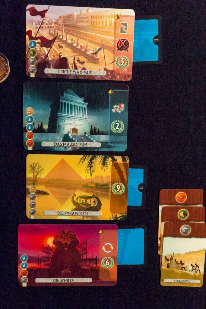 7 Wonders Duel - Spielszene