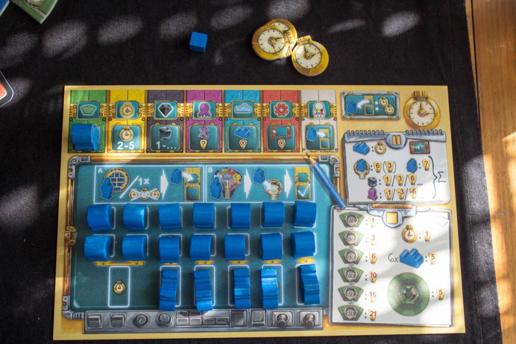 AquaSphere - Spielertabelau