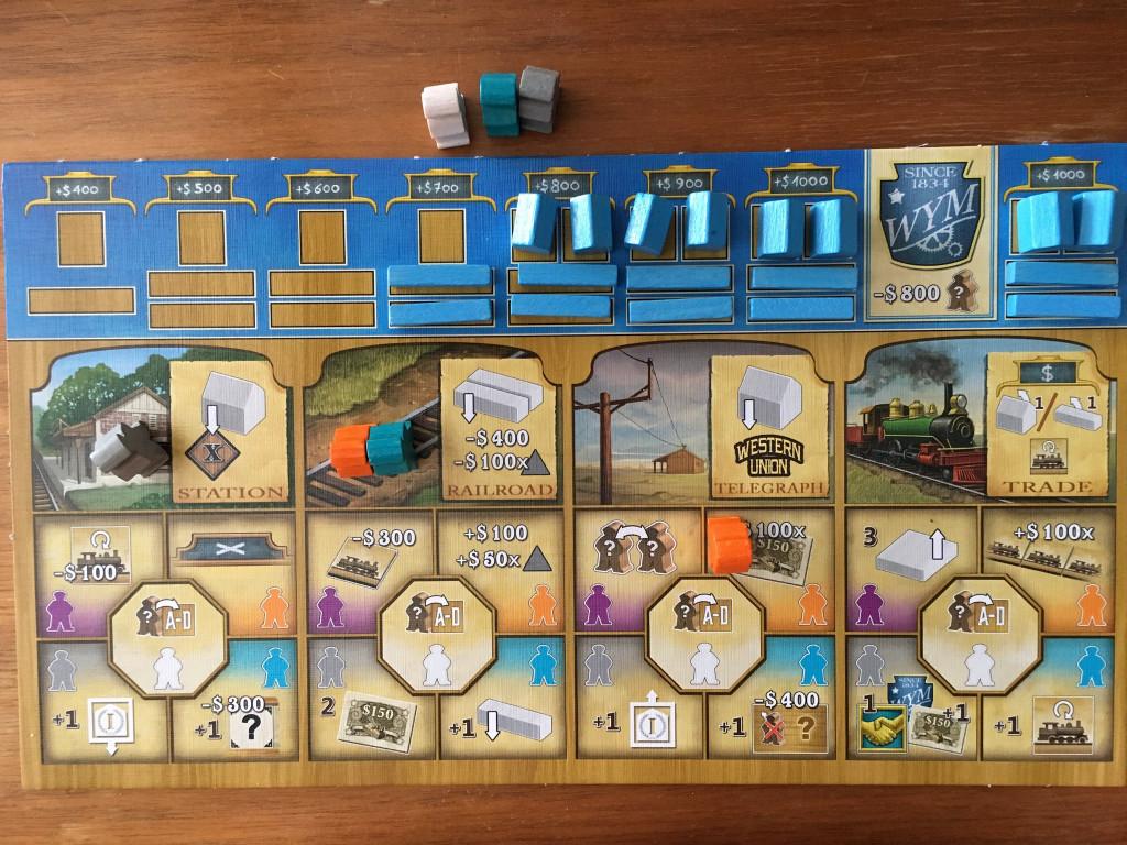 Railroad Revolution - Spielertableau