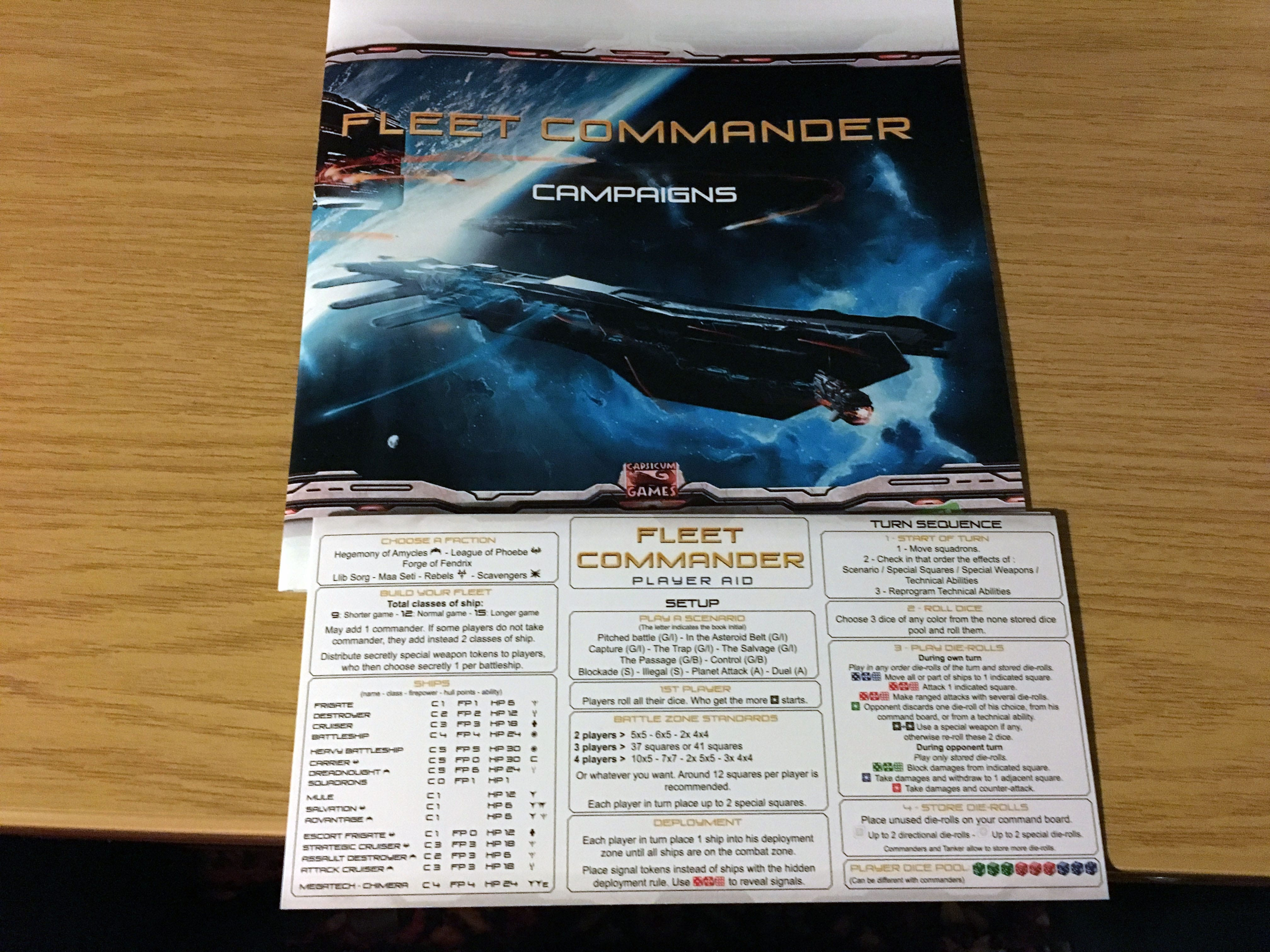 KS: Fleet Commander: Genesis Kampagnenbuch